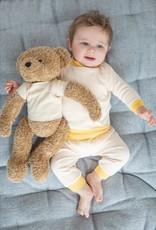 Feetje Feetje Pyjama truitje 305.536  Cuddle  voor pop of beer Okergeel/wit