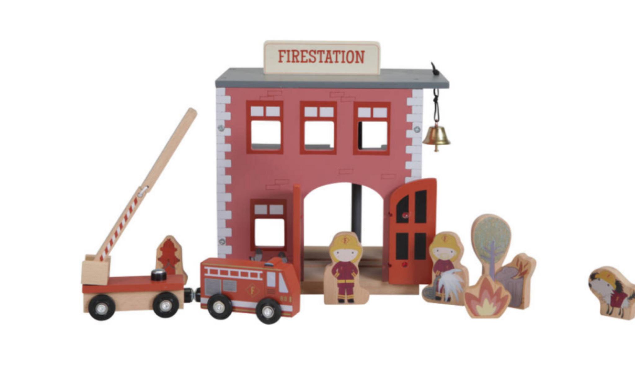 Little Dutch Little Dutch houten brandweerkazerne