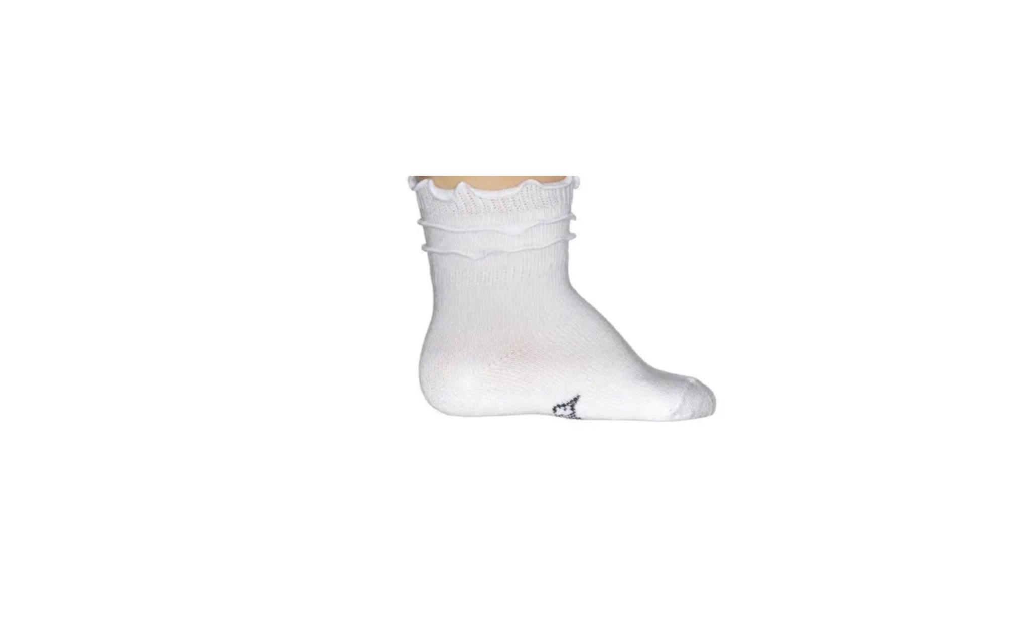 Bonniedoon Bonniedoon BE624106 baby  Cotton Sock  frou-Frou white NOS