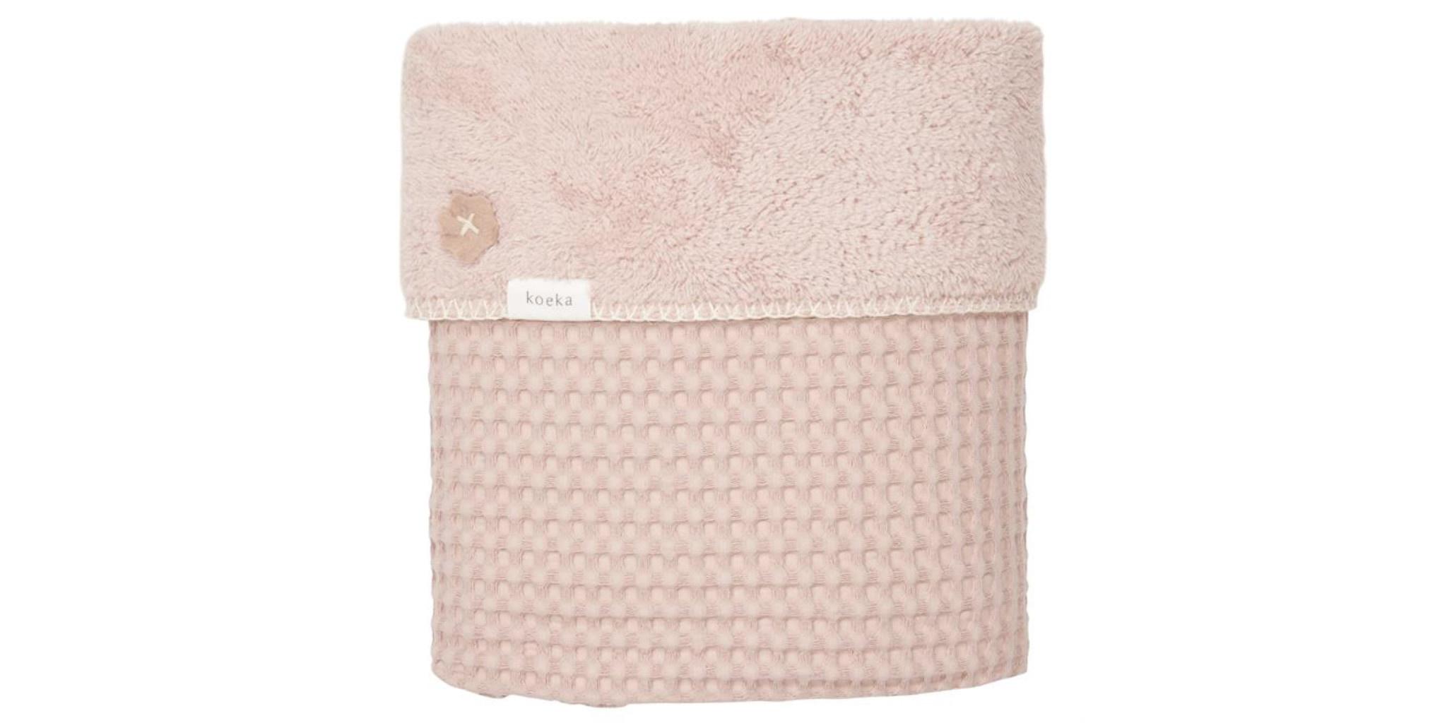 Koeka Koeka Oslo ledikantdeken wafel teddy Grey Pink  422