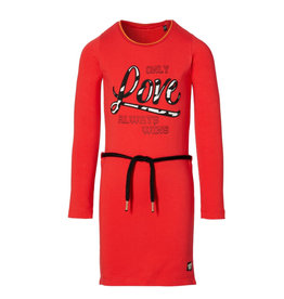 Quapi Quapi Daantje dress red W20G