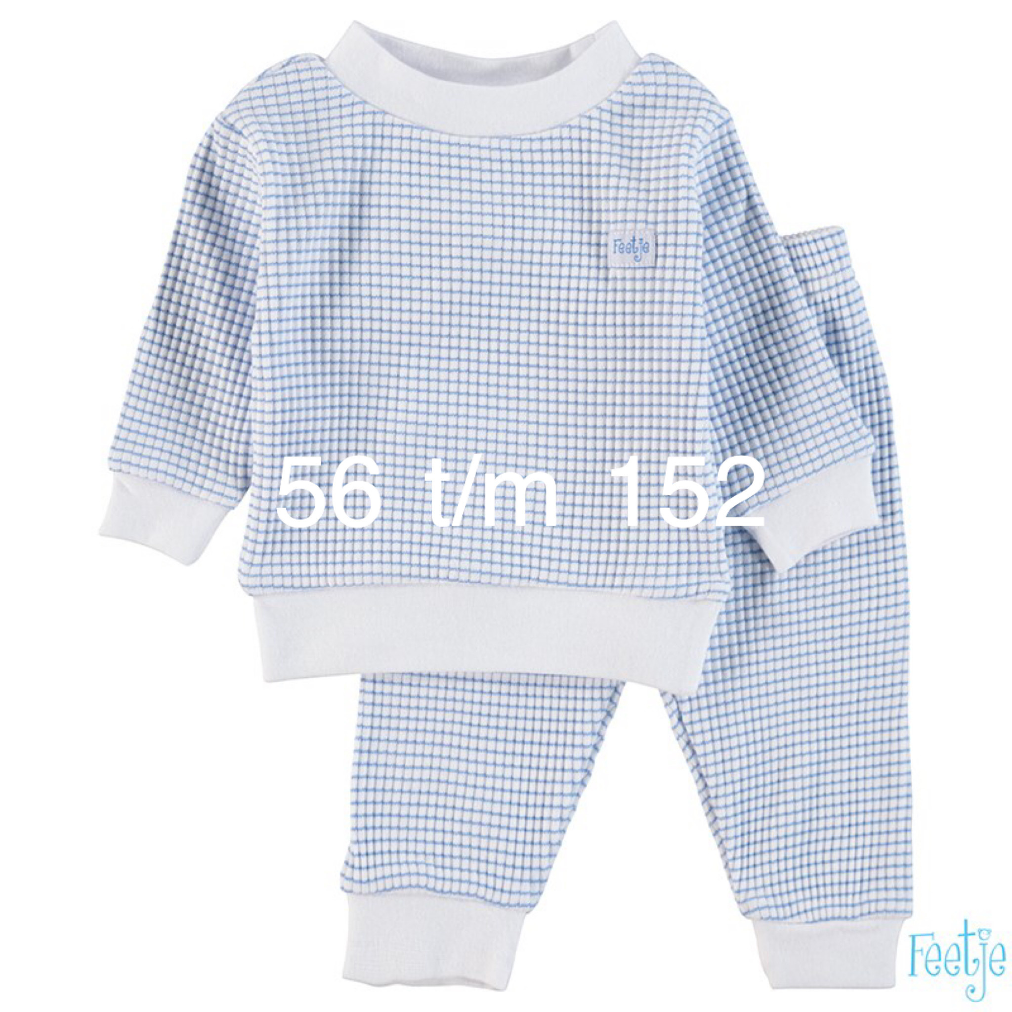 Feetje Feetje Pyjama blauw-wit 305.532