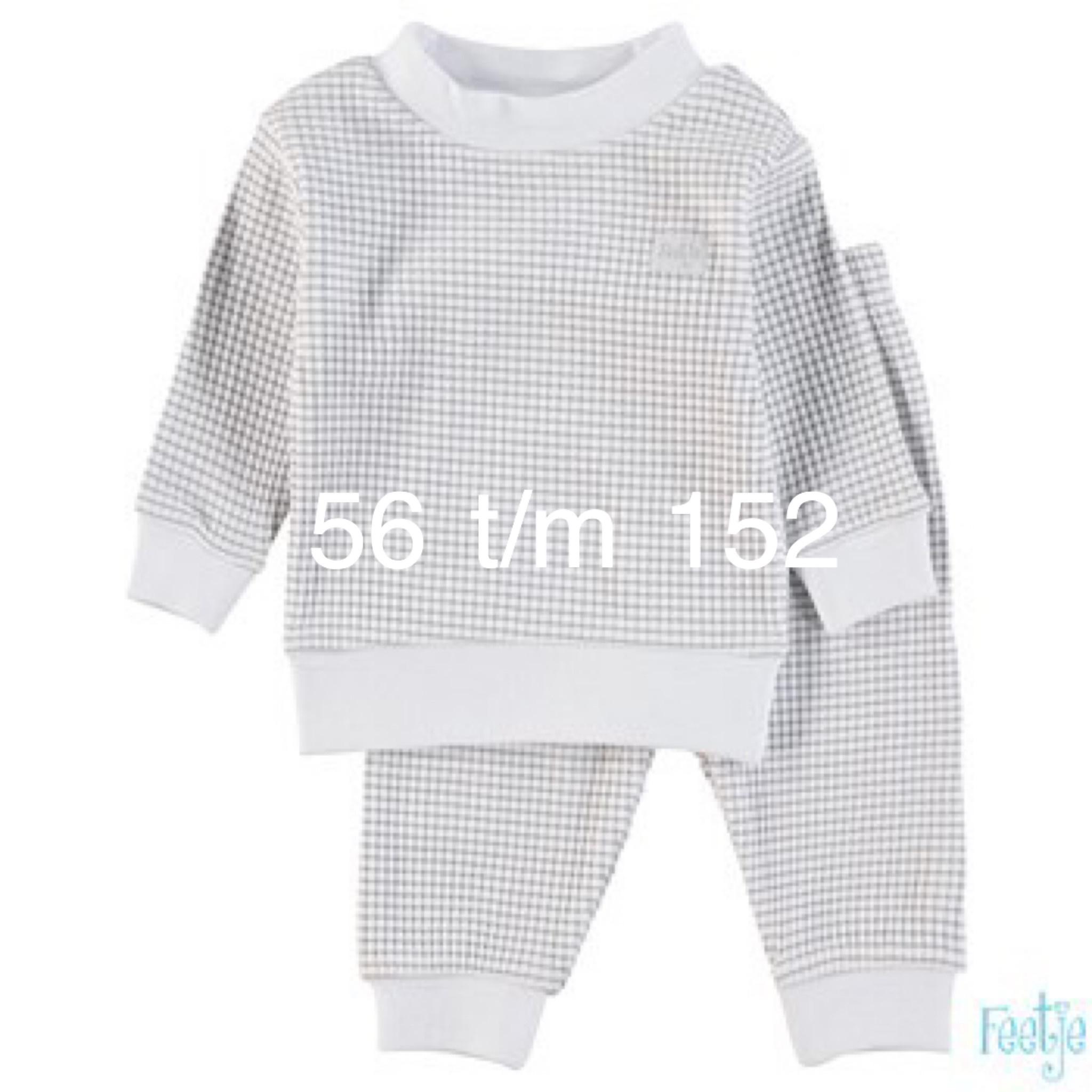 Feetje Feetje Pyjama grey-wit 305.532