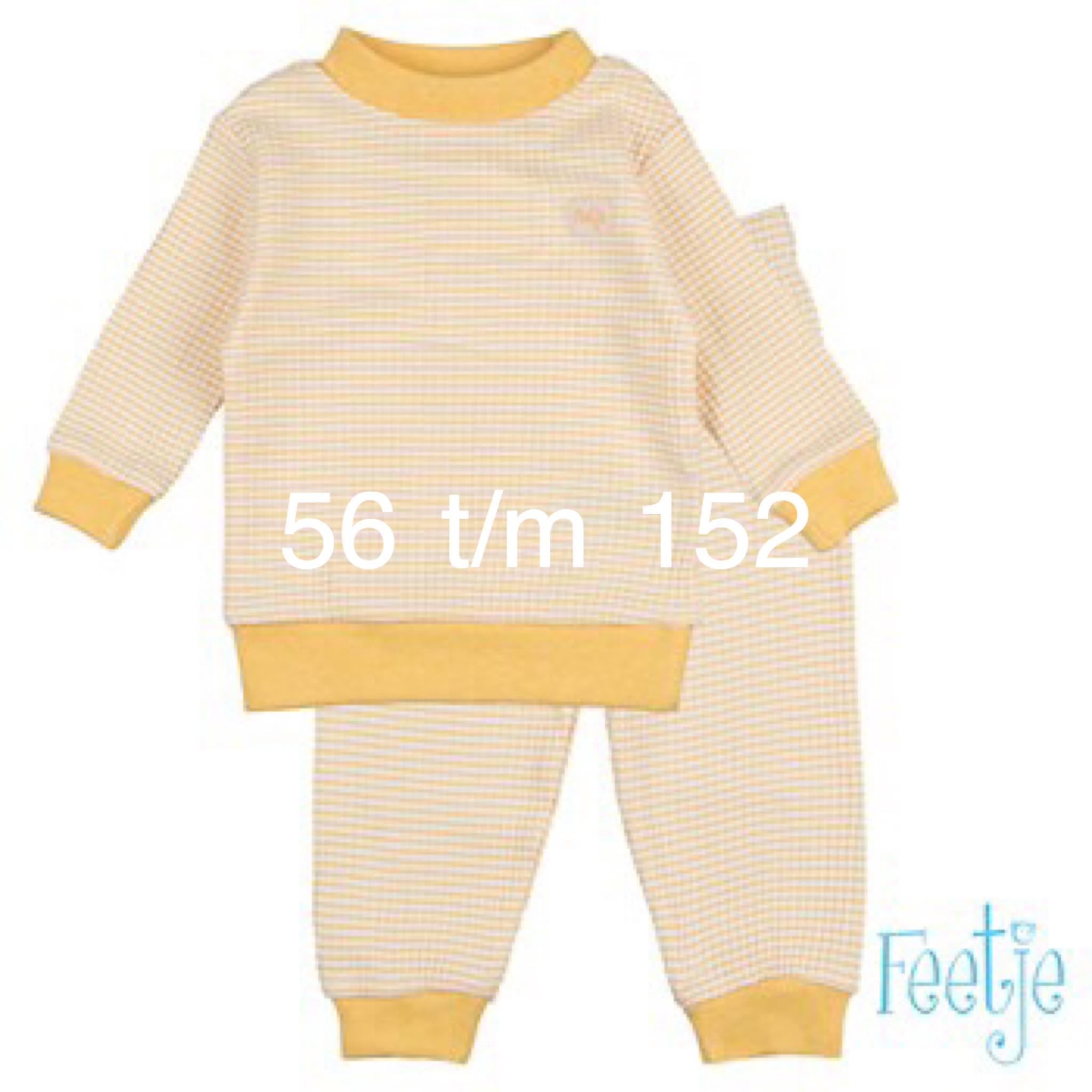 Feetje Feetje Pyjama 305.532 Okergeel/wit