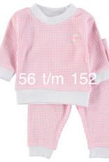 Feetje Feetje Pyjama roze-wit