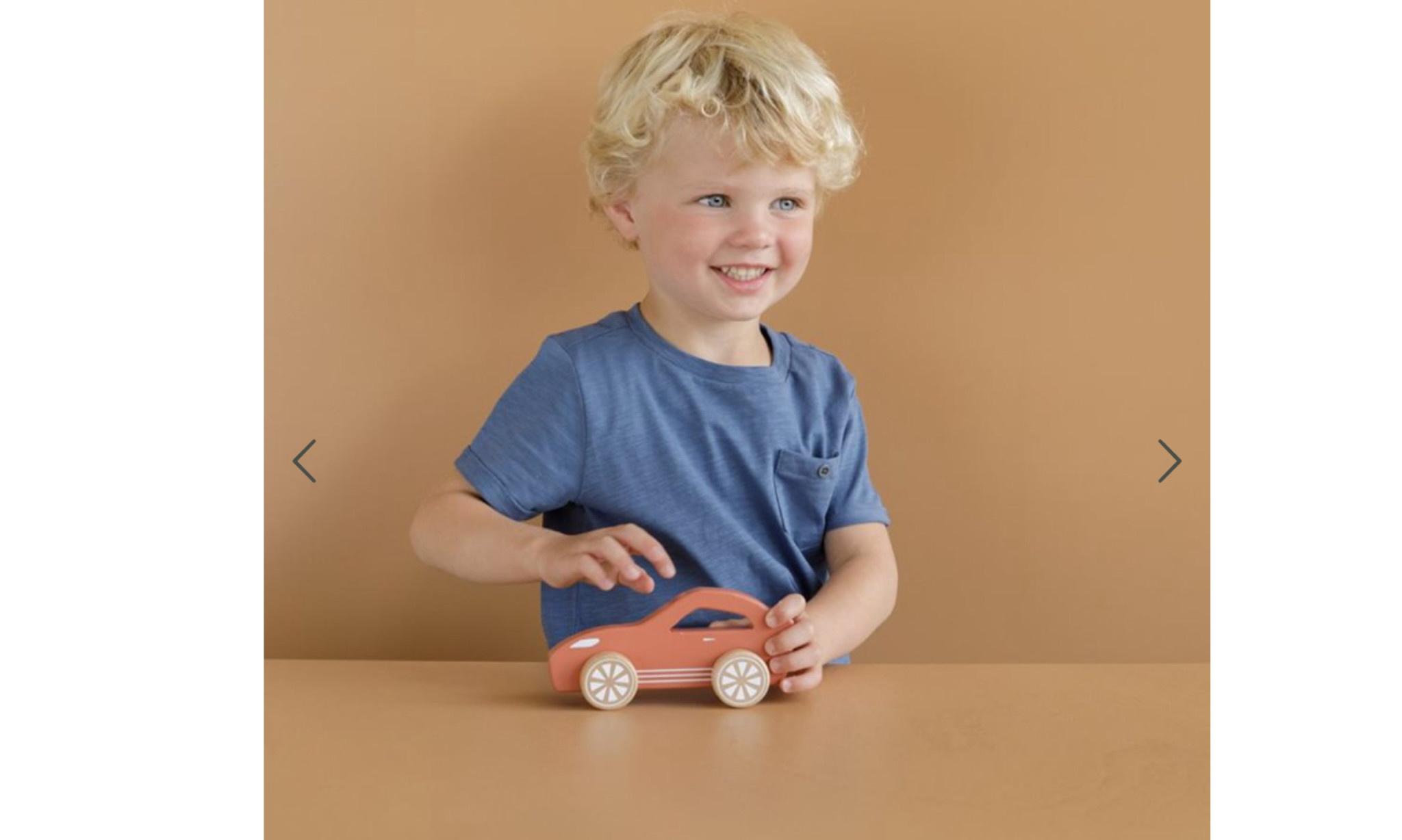 Little Dutch Little Dutch houten auto sport roest