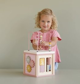 Little Dutch Little Dutch houten activiteiten kubus roze