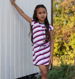 Quapi Quapi Fab  multi stripe dress S21G