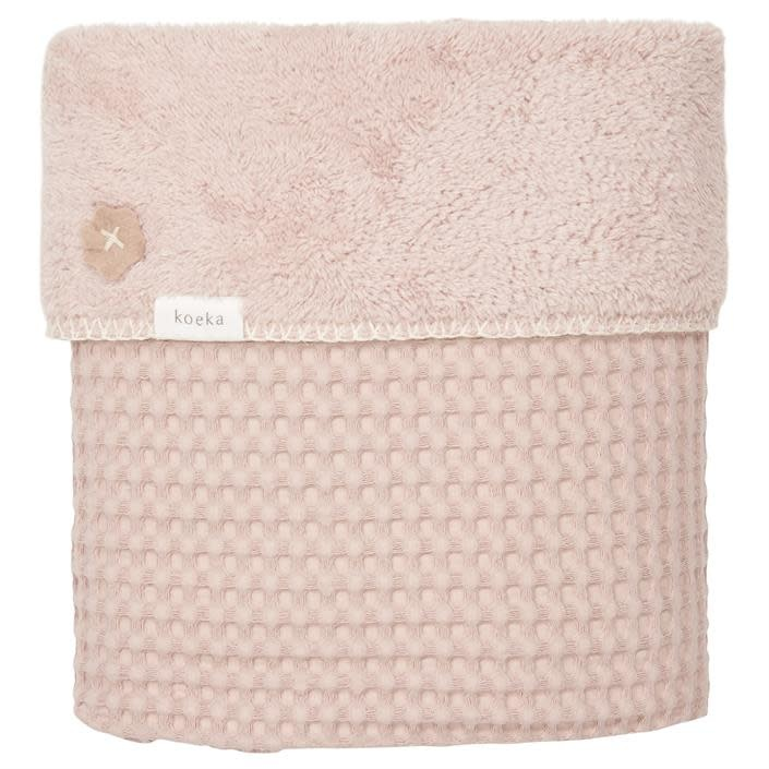 Koeka Koeka Oslo wiegdeken wafel teddy shadow pink/light shadow pink 415/416