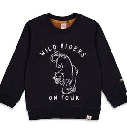 Sturdy Sturdy 716.00450 W21 Sweater Wild Riders Zwart