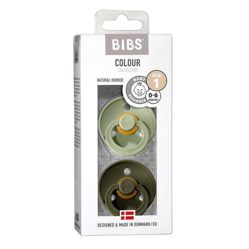BIBS BIBS 2 pack speen Sage/Hunter green