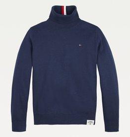 Tommy Hilfiger Tommy Hilfiger Turtleneck Sweater Twilight Navy KB0KB06919C87 W22B