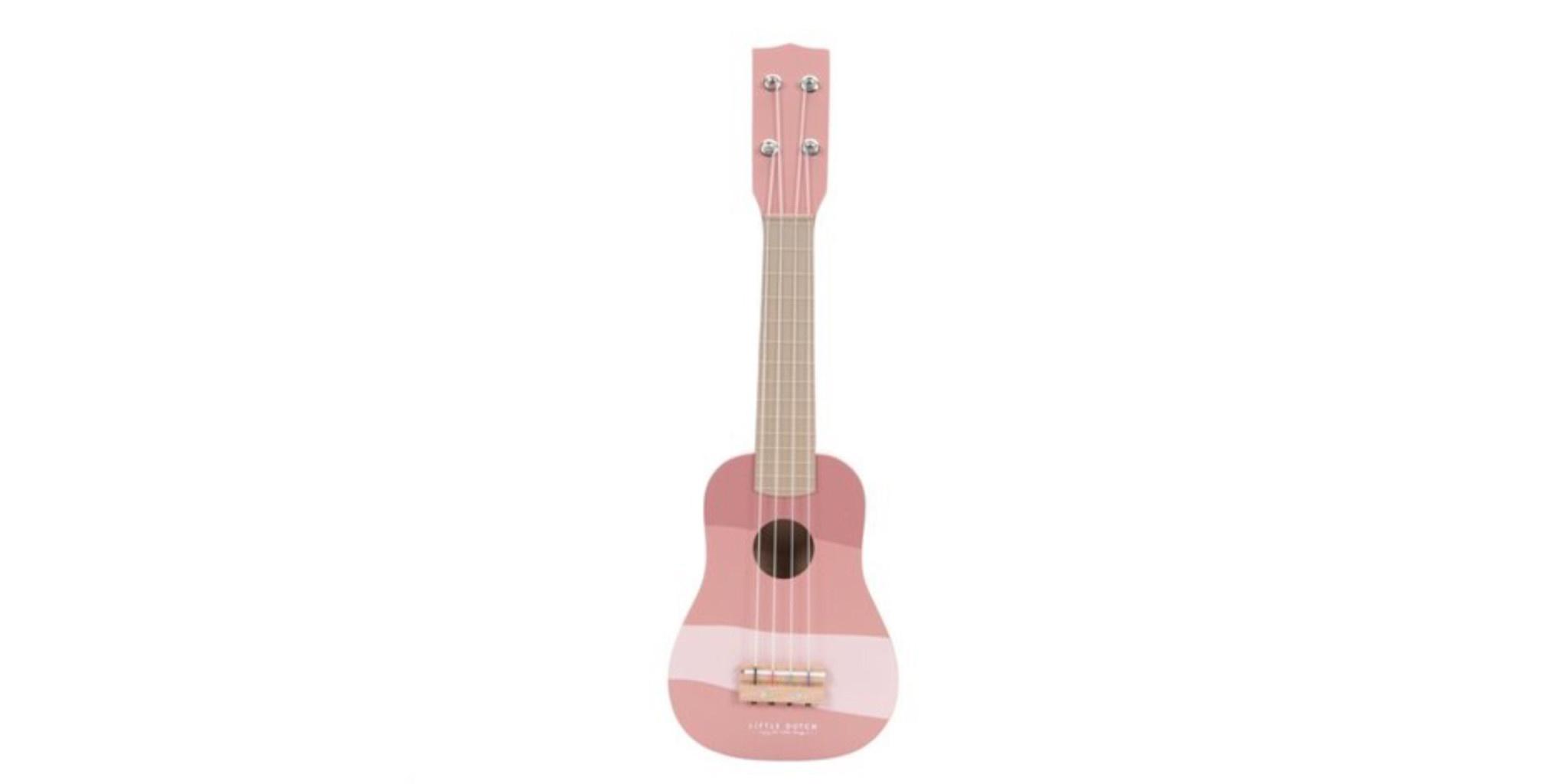 Little Dutch Little Dutch houten gitaar roze.