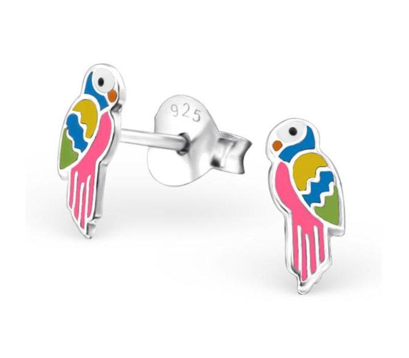 Oorknopjes papegaai | 925 zilver