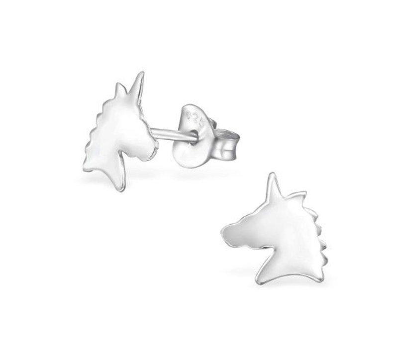 Oorknopjes eenhoorn | 925 zilver