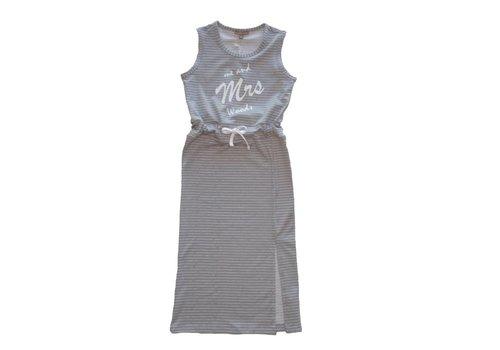 MRS. WOODS Mrs. Woods - jurk grijs
