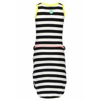 B.Nosy - jurk stripes black yellow 802-5801