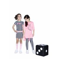B.Nosy - jurk stripe blueberyy 802-5829