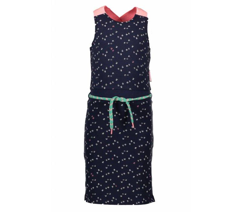 B.Nosy - jurk lang blueberry 802-5835