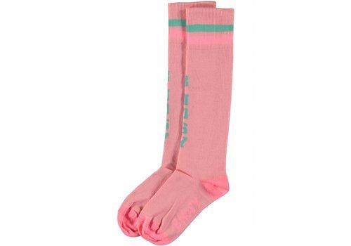 B.NOSY B.Nosy - sokken bunny pink 802-5902