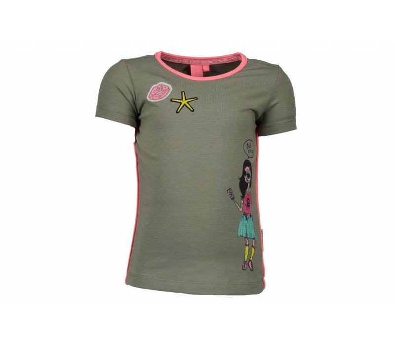 B.Nosy - shirt applicatie avocado 802-5410