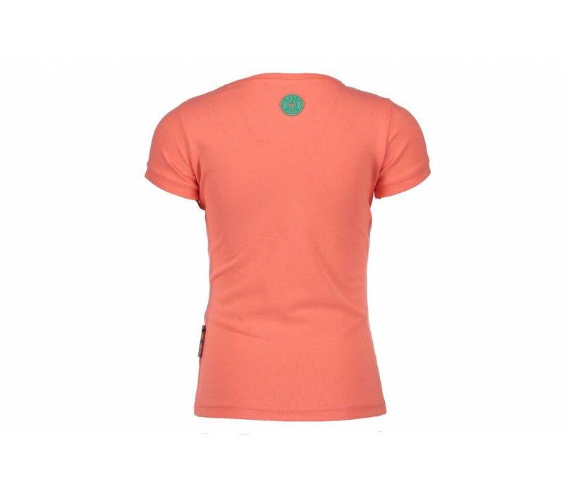 B.Nosy - shirt b.stylish neon coral 802-5423