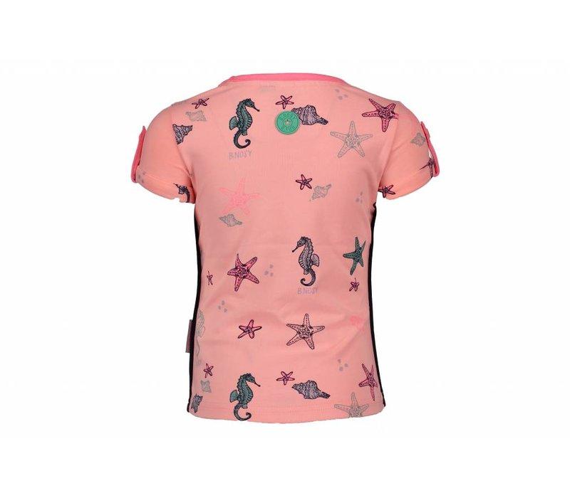 B.Nosy - shirt seahorse bunny pink 802-5425