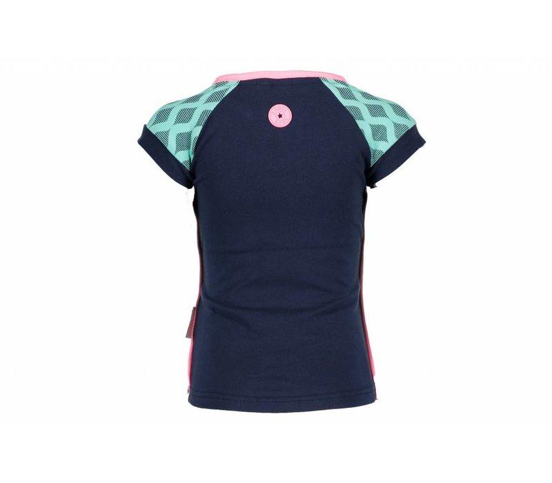 B.Nosy - shirt retro blueberry 802-5426