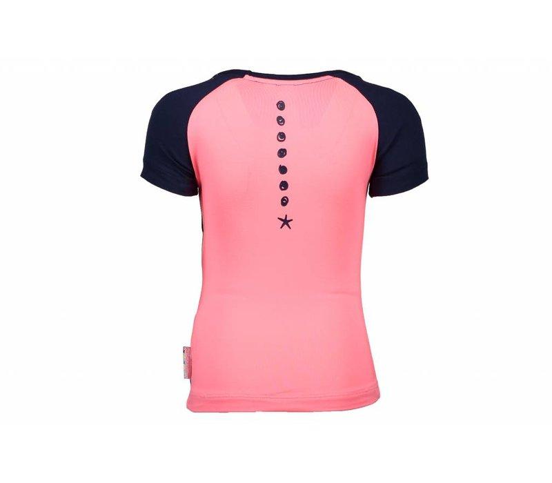 B.Nosy - shirt pink blueberyy 802-5427