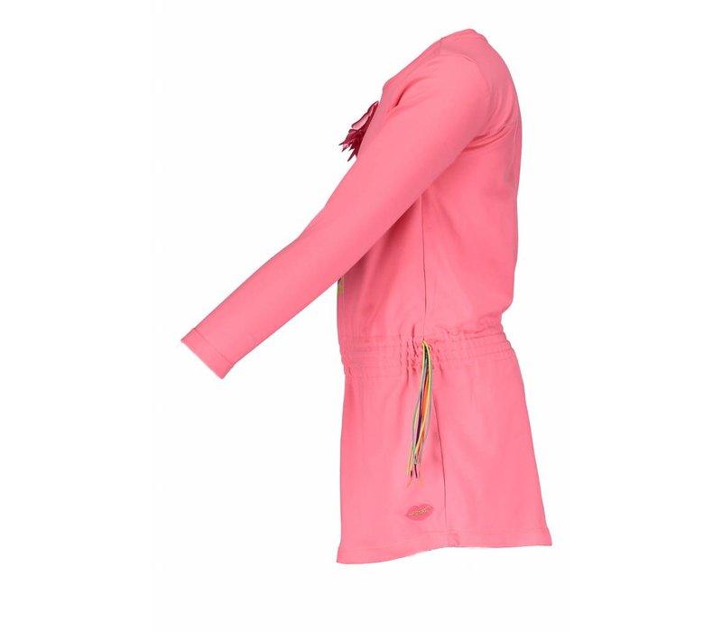 Kidz Art - jurk zebra neon red 801-5840