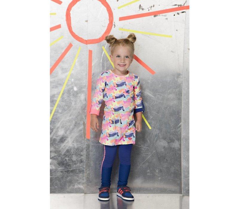 Kidz Art - jurk zebra all over 801-5842