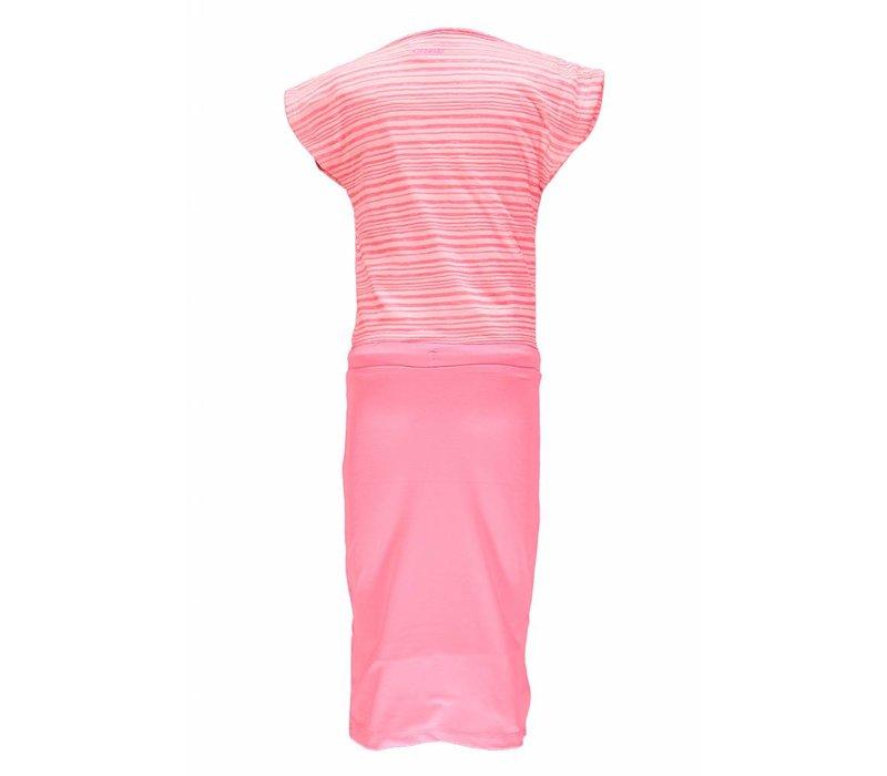 Kidz Art - jurk maxi neon red 801-5849