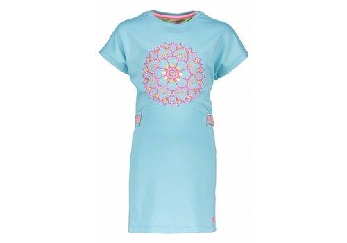 KIDZ ART Kidz Art - jurk bloem aqua 802-5879