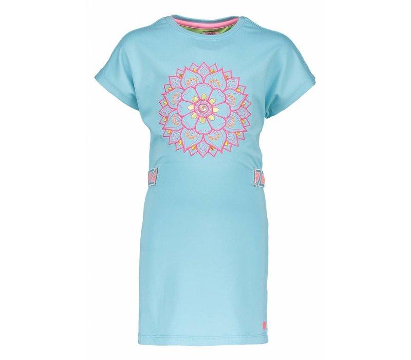 Kidz Art - jurk bloem aqua 802-5879