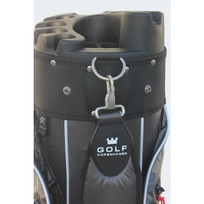 Copenhagen Golf Hudson Stay Dry Cartbag black / silver