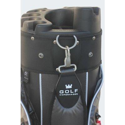 Copenhagen Golf Hudson Stay Dry Cartbag zwart/zilver