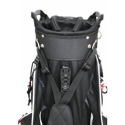 Copenhagen Golf Delray STAY DRY WATERPROOF Cartbag zwart/rood