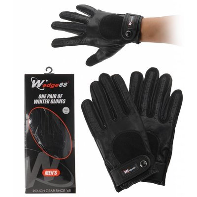 Wedge 68 Heren winterhandschoen, leer