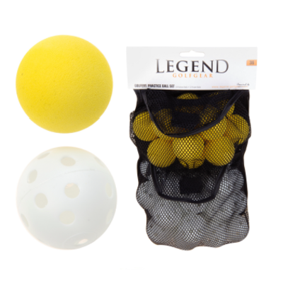 Legend Ball practice set - 24 hollow and 12 foam balls