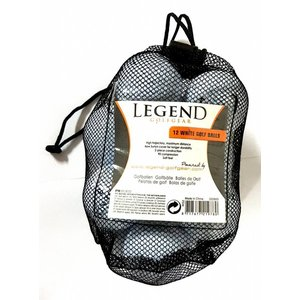Legend Net with 36 golf balls - white