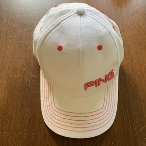 Ping Golf Ladies cap - white / pink