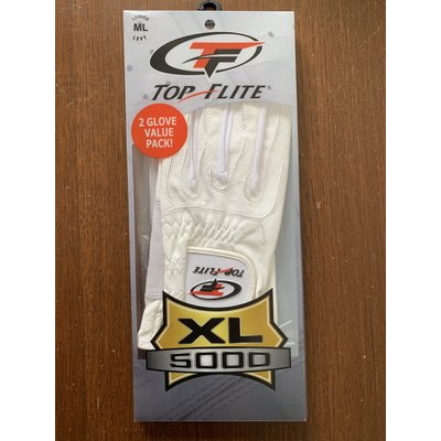 Top Flite Ladies XL 5000 Golf glove RIGHT, for LEFT HANDED player (2-Pack)