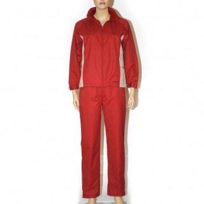 Precise Ladies Rain suit - Scarlet / White