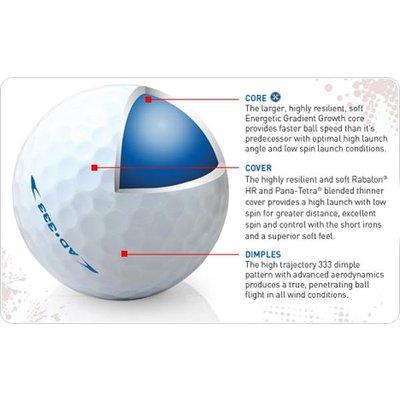 Srixon AD 333 golfballen 12 st - wit