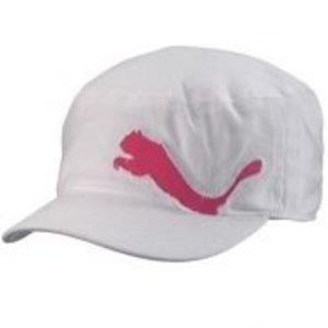 Puma Ladies Clairmont Military Cap - white / pink