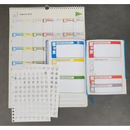 Stichting Doe Maar Zo! Prikkelarme schoolagenda + kalender+ pictostickers