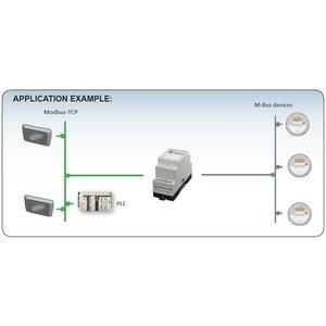 Anybus M-Bus Modbus-TCP gateway 024380. 20 slaves