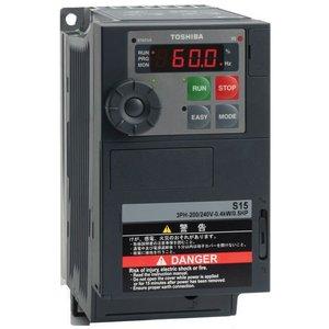 Toshiba VFS15S-2004PL-W1 1 fase frequentieregelaar 230 VAC, 0,4 kW