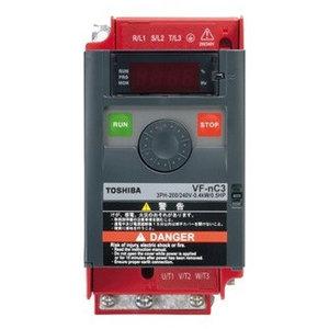 Toshiba VFnC3S-2002PL 1 fase frequentieregelaar 230 VAC, 0,2 kW
