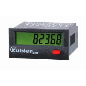Kübler Codix 6.134.012.850 LCD urenteller, NPN ingang, batterij gevoed